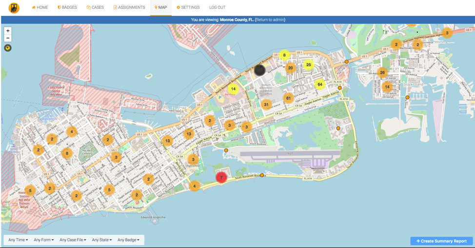 Sample image of Virtual Badge Search and Rescue Mission Planning Dashboard